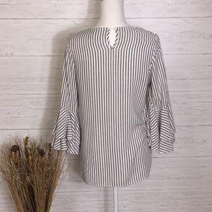 Pinkblush Tops - PinkBlush Black & White Striped Tunic